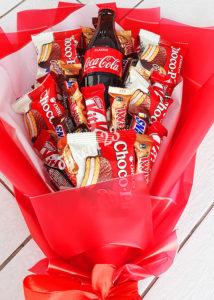 Шоколадный букет с колой