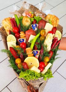 Мужской букет #7 с колбасами и сырами