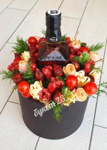 Мужской букет с виски Jack Daniel's